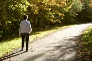Senior Care Chester PA - 5 Things to Avoid When Walking With a Cane
